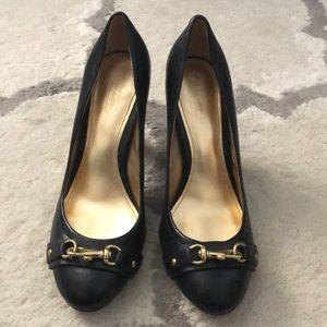 "Gently worn Coach ""desaree"" heels pump size 8"